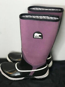SOREL Sorellington Canvas Rubber Tall Rain Mud Waterproof Boots