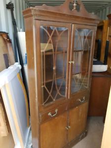 Corner vintage cabinet
