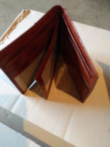 Mens Wallets-Sheep Leather,10 styles,mostly tan/brown, excellent