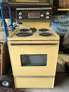 "Vintage Harvest Gold Kenmore Mark 2 Electric 24"" Range"