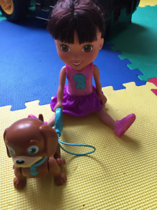 Dora and friends train and play puppy