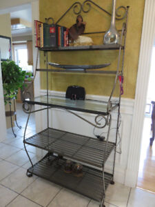 Solid wrought Iron and Steel  Bakers rack