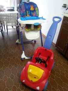 High chair and wagon for sale