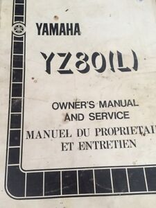 1984 Yamaha YZ80L Owners Manual and Service Regina Regina Area image 1