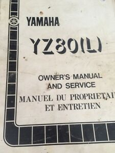 1984 Yamaha YZ80L Owners Manual and Service