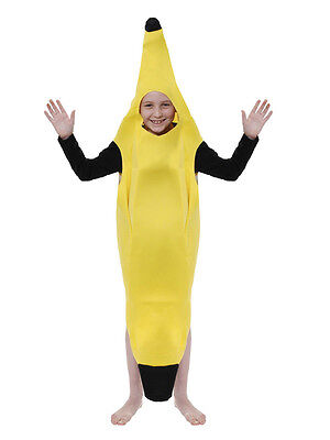 Kids Banana Costume Fruit Fancy Dress New Novelty Food Childs Funny Boys - Boys Banana Costume