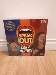 Brand new, never used, Speak out parents vs kids game
