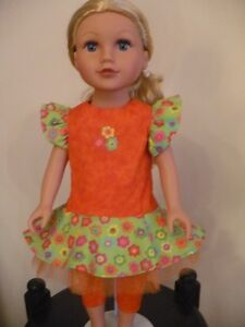 "Dress and Leggings for American Girl and all 18"" dolls"