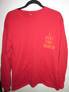 YEEZY I FEEL LIKE PABLO CONCERT SHIRT SIZE L SLIM FIT