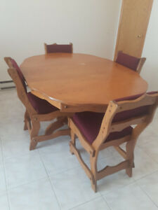 Small Kitchen Table with 4 Chairs - wood
