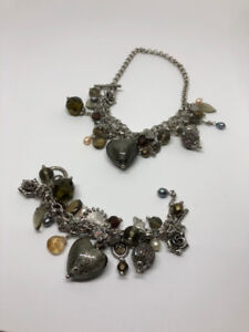 Matching Charm Bracelet and Necklace