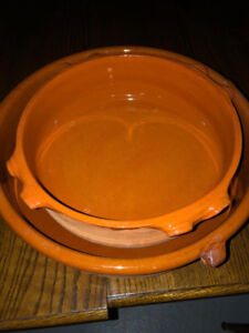 2 Clay Cooking Pots