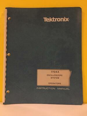Tektronix 070-1402-00 7704a Oscilloscope System Operators Instruction Manual