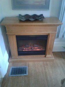 Muskoka oak fireplace
