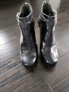 Brand New Black Leather Anklel Boots.