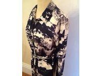 AX Paris navy white size 12 shirt dress