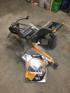 "10"" Mastercraft Chop Saw with new blades"
