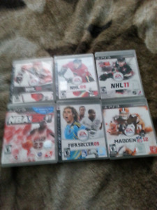 6 Ps3 Sports Games for $20
