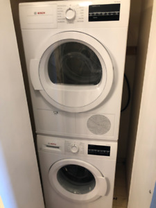 BOSCH COMPACT FRONT LOAD WASHER/DRYER SET!