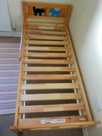 IKEA Kritter Toddler / Children's Bed with mattress