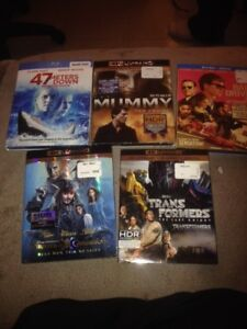 New blu Rays for sale