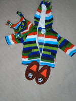 ♥ Baby  clothing size  3-6 months + home shoes     ALL 5$ ♥  ***