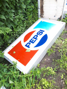 Pepsi sign with lights