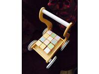 Silver cross wooden baby walker