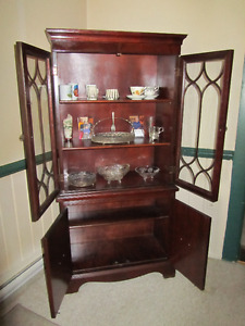 Cherry Wood Buffet Hutch