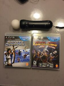 Ps3 manette move , sports champions , mediaval moves