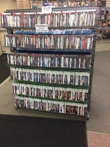 Blu-rays DVDs and video games
