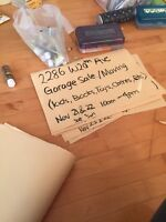 Garage/moving sale at 2286 W20th Ave, Nov 21-22 10-4pm