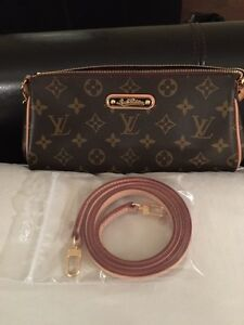 Authentic Louis Vuitton Eva cross body and chain purse
