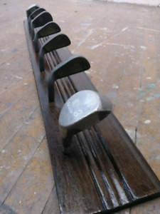 Golf Club Coat Rack *Reclaimed