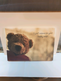Teddy bear canvas print picture Brand new