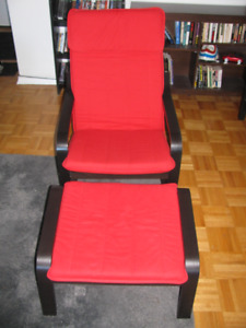 $80 - Ikea Poang Chair and Foot Stool (retail $200)