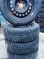235 60 18 Winter tire with rim on sale