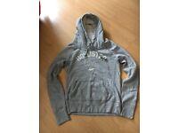 Grey medium ladies Hollister hoodie BRAND NEW