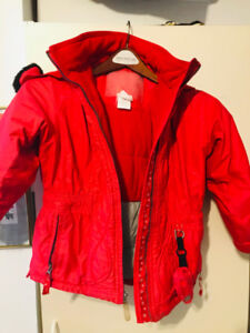 Girls 2 Piece Snow Suit Black and Red