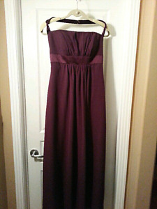 Alfred Angelo Purple Bridesmaid Gown