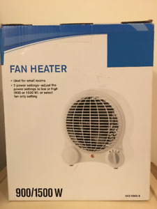 Something I don't need  anymore, heater and fan heater