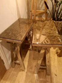 wine table console home made