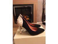 Next black and cream heels