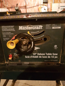 10 inch Mastercraft Table Saw