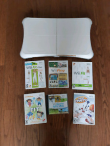 Wii balance Board and games