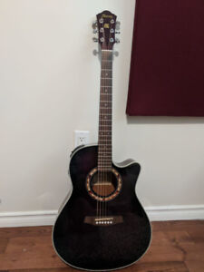 Great Ibanez Acoustic Electric Guitar with Extras