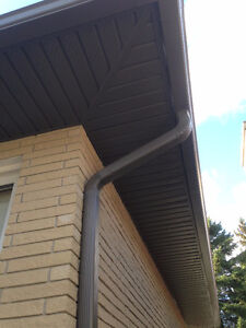 "Seamless 5"" eavestrough, Facia, Soffit, Siding And Capping Kitchener / Waterloo Kitchener Area image 3"