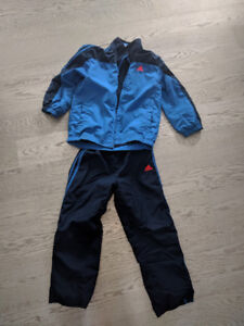 Kids Adidas jacket and splash pant set