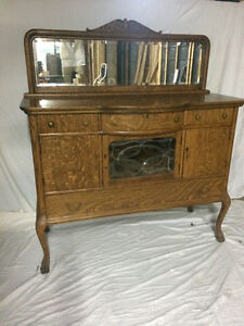 Solid Walnut Dining Hutch - Buffet