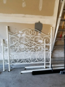 White painted bed frame